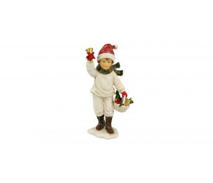 Figurka Chłopiec z dzwonkiem 13 cm