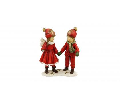 Figurka Dzieci z lampionami 13 cm