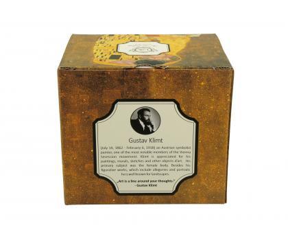 Kubek na stopce jumbo 480 ml THE KISS by Gustav Klimt