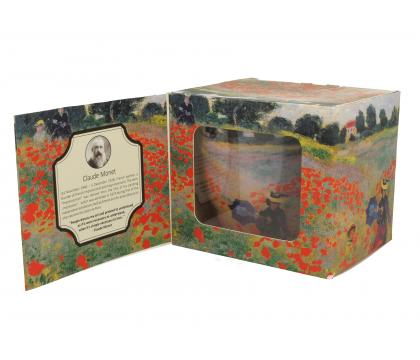 Kubek na stopce jumbo 480 ml THE POPPY FIELDS by Claude Monet