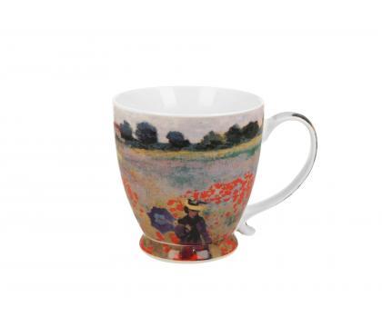 Kubek na stopce jumbo 480 ml THE POPPY FIELDS by Claude Monet