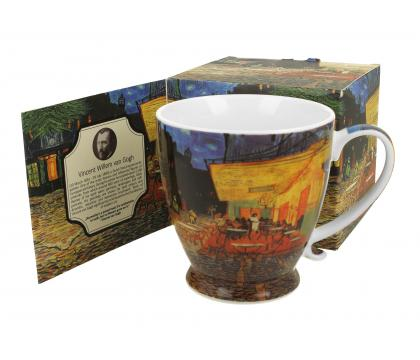 Kubek na stopce jumbo 480 ml CAFE TERRACE AT NIGHT by Van Gogh