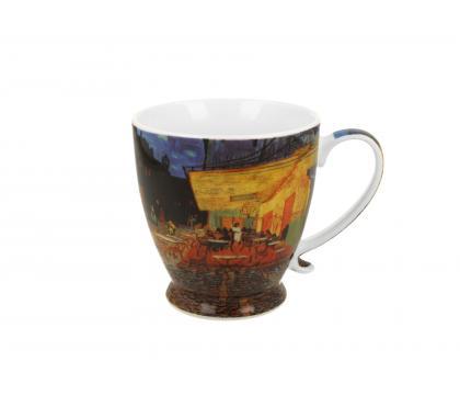 Kubek na stopce jumbo 480 ml CAFE TERRACE AT NIGHT by Van Gogh
