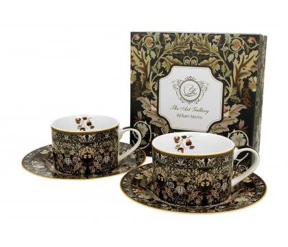 Filiżanki ze spodkami 240 ml komplet 2 szt. Acanthus Leaves William Morris