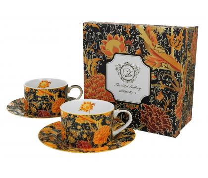 Filiżanki ze spodkami 240 ml komplet 2 szt. CRAY FLORAL William Morris