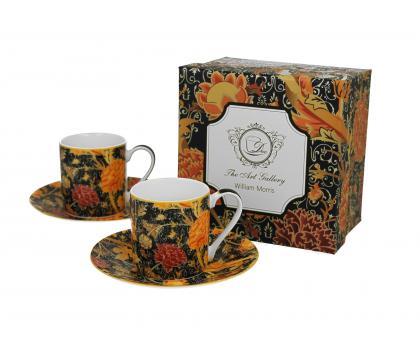 Filiżanki espresso ze spodkiami 90 ml komplet 2 szt. CRAY FLORAL William Morris