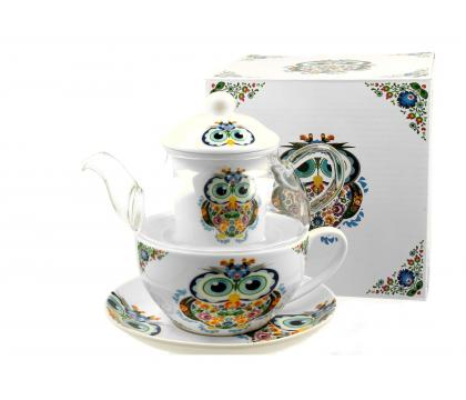 Filiżanka z dzbankiem szklanym / Tea for One SOWA B