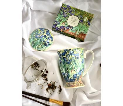 Kubek 300 ml z zaparzaczem Irises by V. van Gogh