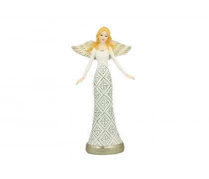 Figurka Aniołek w koronce 2 - 25 cm