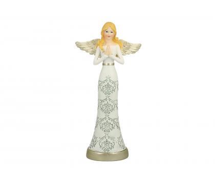 Figurka Aniołek w koronce 3 - 25 cm