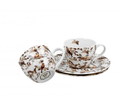 Filiżanki espresso ze spodkami 110 ml komplet 2 szt. PTASZKI